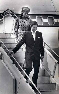 1986: Charles, Prince of Wales and Diana, Princess of Wales, arrive in Victoria.