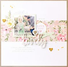 Lovely | Scrap the Girls Design Team project | Pink Paislee Paige Evans Take me Away collection