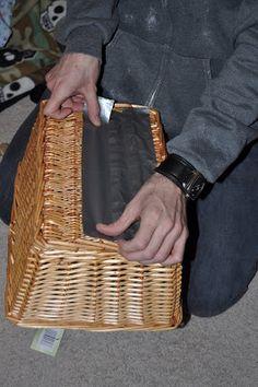 hypertufa - tape basket