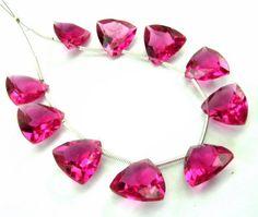 AAA Hot Pink Rubelite Quartz Faceted by GemsAndBeadsEmporium