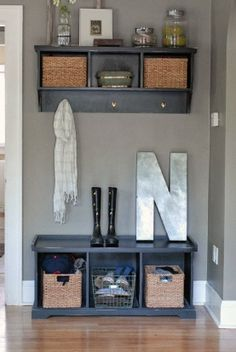 43 Gorgeous Small Entryway Ideas 68 Best Ideas for Entryway Storage 8 Entryway Bench Storage, Entryway Decor, Entryway Ideas, Entrance Ideas, Entryway Console, Entrance Foyer, Hallway Ideas, House Entrance, Open Entryway