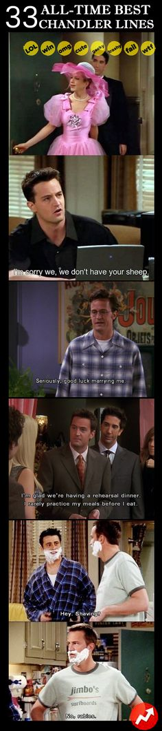 Why Chandler is the best: 10 Best #Chandler Lines of All Time #friends