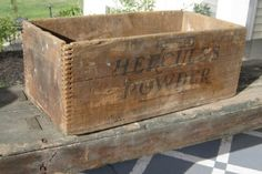 Antique Farm Style Hercules Powder Crate or Display