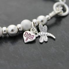 Brand new Hand-Stamped Lilac Dragonfly brand tag