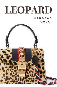 Gucci - Sylvie Mini. Click to see all angles! Animal leopard cheetah print handbag. Ultimate accessory: gold trim, calf hair, leather trim shoulder bag. #affiliate