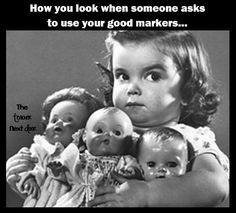 Moon Conjunct Mars - Moon and Mars contacts involve the psychological relationship between instinctive and emotional patterns with an ability to act decisively Moon Conjunct Mars, Antique Dolls, Vintage Dolls, My Face When, Teacher Humor, Teacher Sayings, Teacher Stuff, School Humor, Kids Girls