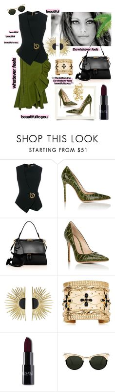 """""""Beautiful"""" by waltos ❤ liked on Polyvore featuring Balmain, Gianvito Rossi, Victoria Beckham, Aurélie Bidermann and Spitfire"""