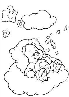 Care Bears In Bed Coloring Book Pages | Niece/nephew | Pinterest ...