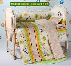 5PCS baby crib set