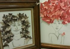 Paper butterfly hair. Spring Salon Window display