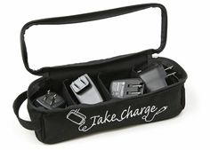 Neat way to organize your chargers and cords!
