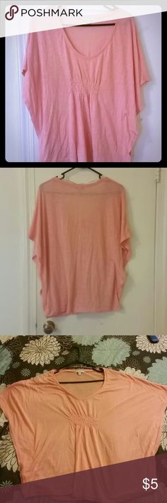 Summer Closeout! Summer Batwing top Lightweight coral ladies top, with batwinged sleeves. Comfortable flowy fit. Cotton On Tops Blouses