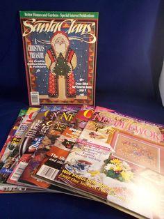 Counted Cross Stitch Magazines Better Homes Gardens Needlework Issues Crafts  #BetterHomesandGardens