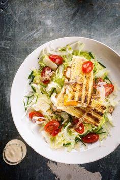 Croque Caesar   njam! Gourmet Recipes, Healthy Recipes, Lunch Room, Pasta Salad, Healthy Life, Brunch, Food And Drink, Snacks, Dinner