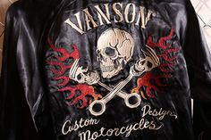 anch-crash: You can buy it only here! Our store comment VANSON バンソンスカル embroidery reversible ska Jean skeleton wing fire American casual bikie men jacket Father's Day present American Casual, Us Store, Fathers Day Presents, Satin Jackets, Japan Post, Global Market, Skeleton, Wings, Fire