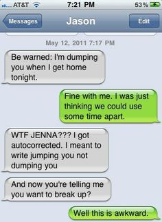 . tooooo funny!  I'm such a klutz at texting, I knew you'd appreciate this!