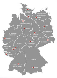 Deutschlandkarte - Bundesländer