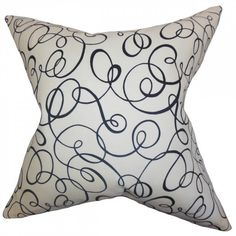 Nuru Spiral Pillow Black White (90 BAM) ❤ liked on Polyvore featuring home, home decor, throw pillows, modern home accessories, black toss pillows, black and white home decor, modern home decor and black throw pillows