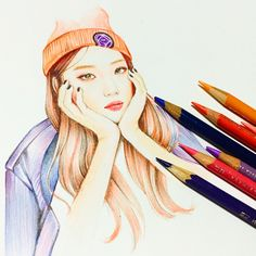Model LeeSungKyung  Prismacolor