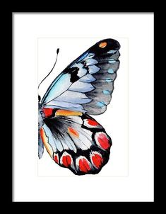 Framed Wall Art, Framed Prints, Butterfly Wings, Hanging Wire, Thing 1, Watercolor Paintings, Best Graffiti, Graffiti Art, All Print