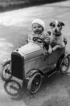 +~+~ Vintage Photograph ~+~+ Best buds out for a ride