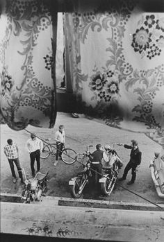 From Lindsey's room, Louisville from The Bikeriders by Danny Lyon,1966
