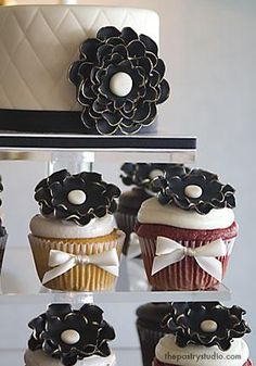 Chanel-inspired cupcakes