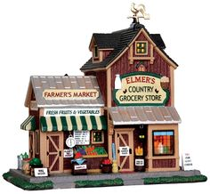 Lemax Villages:  Harvest Crossing - Elmer's Country Store - #35525 - Intro: 2013