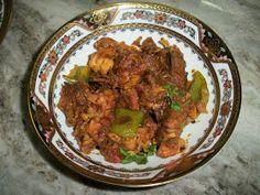 Chicken capsicum masala