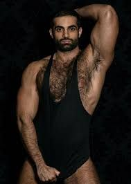 Gay hairy muscle man