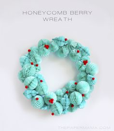DIY-ify: Honeycomb Berry Wreath DIY