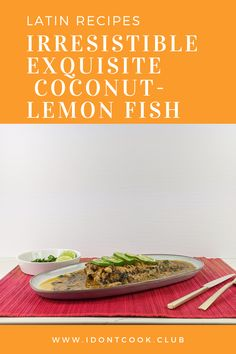 Coconut and lemon bring out the flavors so well that you'll be really impressed. The best thing about this recipe is that it's easy, and you can make it anytime. Lemon Fish, Lemon Grass, Fish Stock, Red Snapper, Latin Food, Coriander, It's Easy, Hot Sauce, Seafood