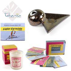 Une histoire de rencontres, de voyages, découvrez le papier d'Arménie ! Un parfum subtil et agréable pour votre intérieur... Toute la gamme sur le site tahanea.com ! Lien direct : http://www.tahanea.com/154-papier-d-armenie