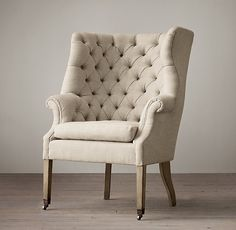 Restoration Hardware, 19th C. English Wing Chair