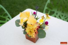 Boston Wedding Photography, Boston Event Photography, Wedding Inspiration, Yellow, green and purple, Wedding Centerpiece, Wedding Floral Arrangements, Wedding Flowers, Person + Killian Photography