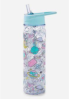 Unicorn Galaxy Shaky Water Bottle Unicorn Galaxy S+ Glitter Water Bottles, Cute Water Bottles, Drink Bottles, Water Bottle Design, Glass Water Bottle, Girly Things, Cool Things To Buy, Unicorn Water Bottle, Unicorn Fashion