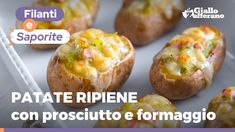 PATATE RIPIENE AL FORNO - Ricetta facile e gustosa! - YouTube Food Hacks, Baked Potato, Potatoes, Baking, Dinner, Ethnic Recipes, Youtube, Video, Drinks