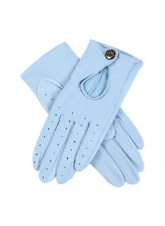 Dents Women's Leather Driving Gloves in Sky