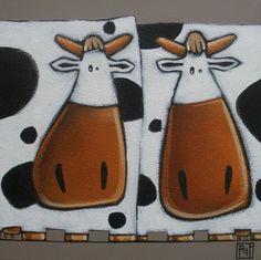 veau vache cochon chaton carine mougin artiste peintre feutrine pinterest artiste. Black Bedroom Furniture Sets. Home Design Ideas