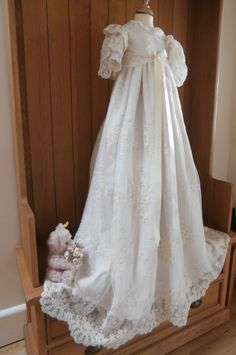 b151c9e9e21 The Windsor heirloom lace christening gown