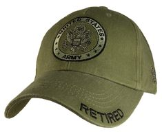 1cce1cb6 $14.99 - Us Army Retired - U.S. Army With Army Seal Officially Licensed Baseball  Cap Hat