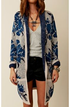 :)Free People Flower Power Cardi