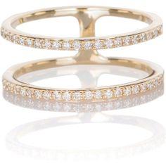 EF Collection Diamond Double Spiral Ring as seen on Miranda Kerr