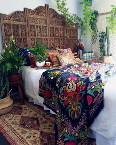 stunning Duchess velvet vintage hand embroidered Suzani on the bed. Our beautiful vintage silk Belgian runner on the floor. Vintage kilim pillows for daysssss & all the you can handle! Can you spot my huge vintage leather camel? Dream Bedroom, Home Bedroom, Bedroom Ideas, Master Bedroom, Gypsy Bedroom, Tribal Bedroom, Bali Bedroom, Garden Bedroom, Design Bedroom