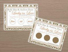 DIY Save the Date Scratch Off Save the Date Save by SweetSights, $25.00