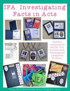 Bible Fun For Kids: IFA: Investigating Bible Facts in Acts Supplies