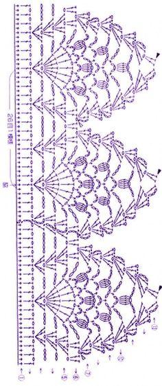 """""""Top designs"""" – tricot et couture Crochet Border Patterns, Crochet Collar Pattern, Crochet Boarders, Crochet Lace Edging, Granny Square Crochet Pattern, Crochet Diagram, Crochet Chart, Thread Crochet, Crochet Trim"""