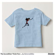 The Incredibles' Violet Parr Disney Toddler T-shirt. Awesome Disney The Incredibles items to personalize. #disney #theincredibles #birthday #gifts #personalize #shopping