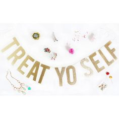 Decorate with fun glitter banners.