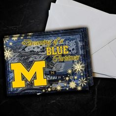 Michigan Wolverines Dreaming Christmas Cards 5 Pack